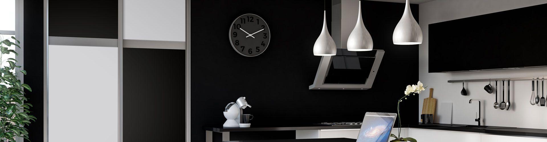 portes de placard coulissantes damier noir et blanc kazed. Black Bedroom Furniture Sets. Home Design Ideas