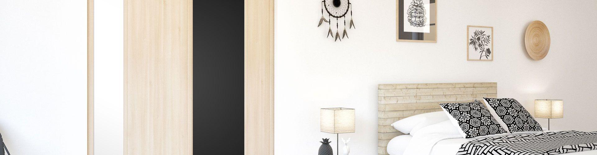 portes de placard coulissantes graphiques kazed. Black Bedroom Furniture Sets. Home Design Ideas