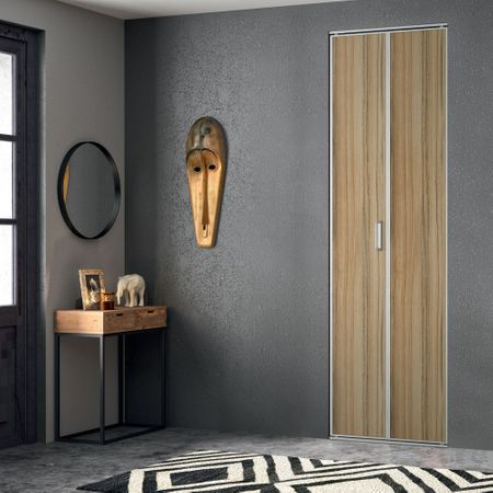 fa ade de placard pliante 2 portes d cor panama kazed. Black Bedroom Furniture Sets. Home Design Ideas