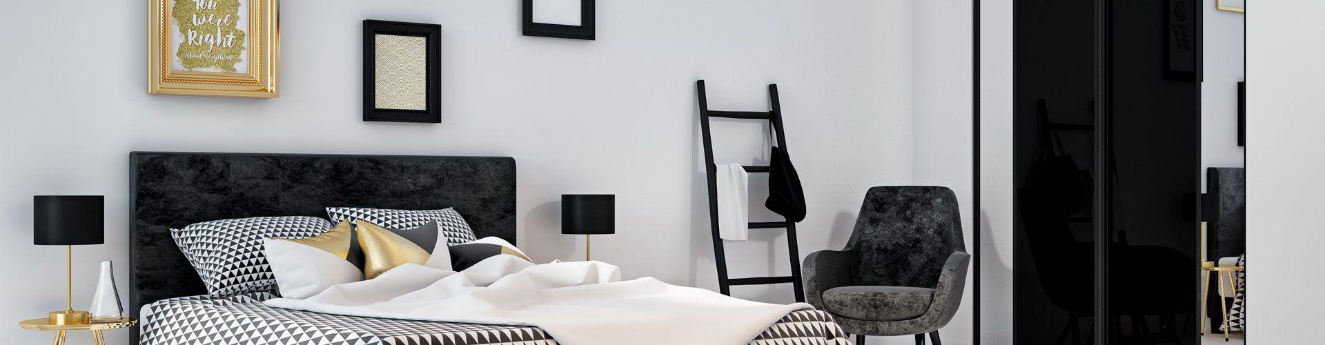 fa ades de placard kazed noir et miroir kazed. Black Bedroom Furniture Sets. Home Design Ideas